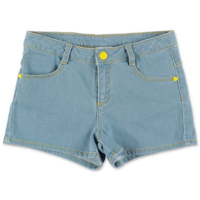 Little Marc Jacobs shorts blu in denim di cotone stretch Peanuts