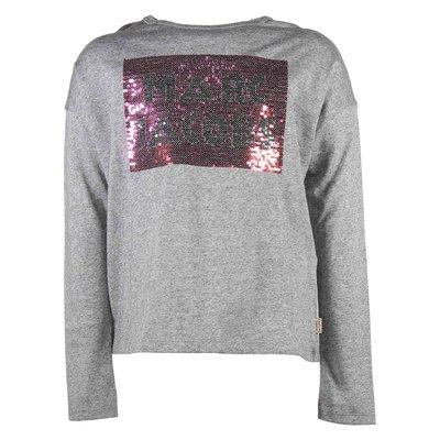 Melange grey logo cotton jersey t-shirt