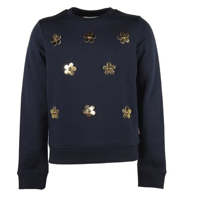 blue patch cotton sweater