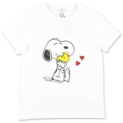 Little Marc Jacobs Peanuts white organic cotton jersey t-shirt