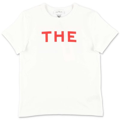 Little Marc Jacobs white cotton jersey t-shirt