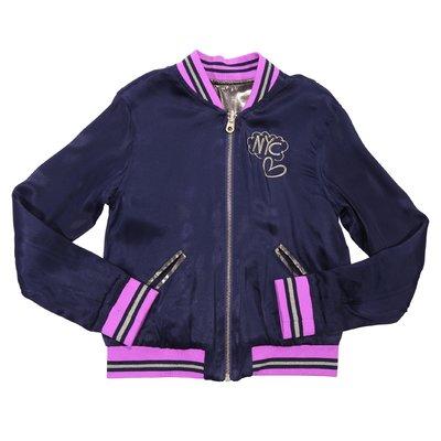 Deep blue nylon jacket