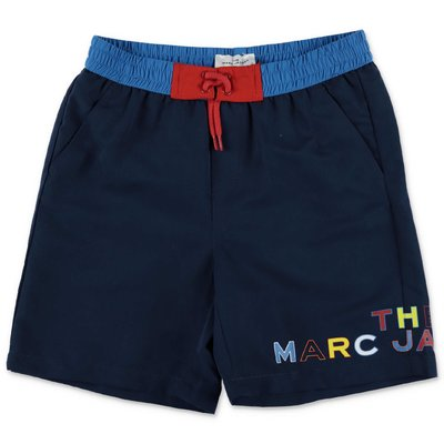 Little Marc Jacobs navy blue nylon swim shorts