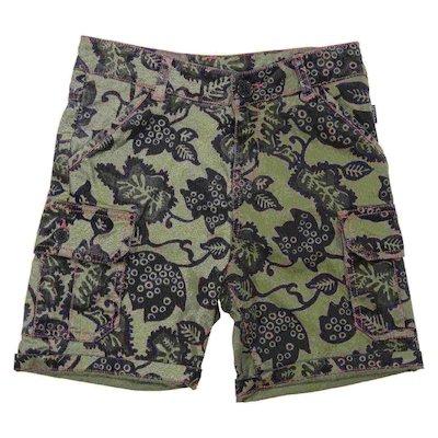 Shorts verde militare stampa