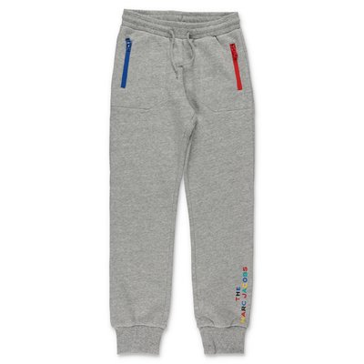 Little Marc Jacobs marled grey cotton sweatpants