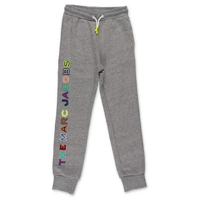 Little Marc Jacobs melange grey cotton sweatpants