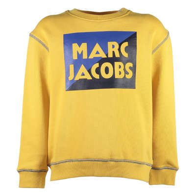 yellow logo detail cotton sweater