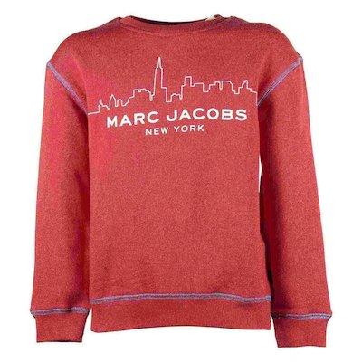 Felpa rossa in cotone con logo