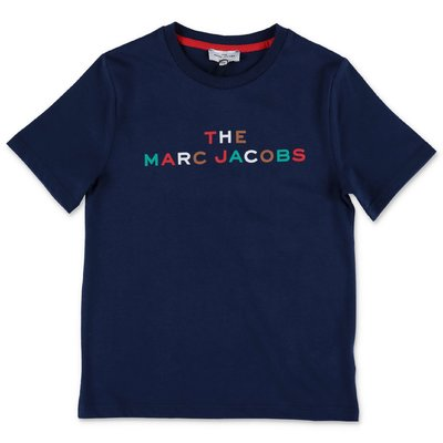 Little Marc Jacobs t-shirt blu navy in jersey di cotone