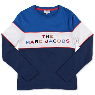 Little Marc Jacobs t-shirt color block in jersey di cotone