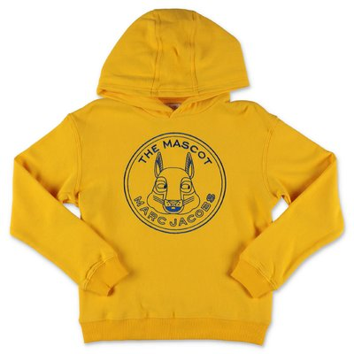 Little Marc Jacobs ''The Mascot'' yellow cotton sweatshirt hoodie