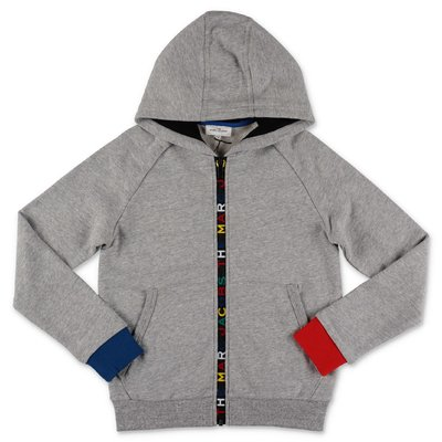 Little Marc Jacobs melange grey cotton hoodie