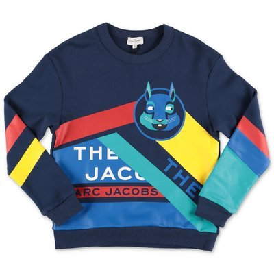 Little Marc Jacobs navy blue logo detail cotton sweatshirt