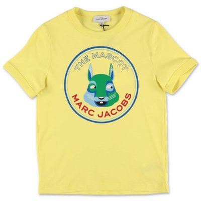Little Marc Jacobs t-shirt gialla in jersey di cotone organico