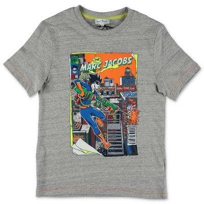 Little Marc Jacobs melange grey cotton jersey t-shirt