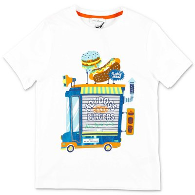 Little Marc Jacobs white organic cotton jersey t-shirt