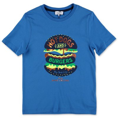 Little Marc Jacobs t-shirt blu in jersey di cotone organico