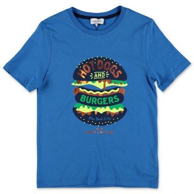 Little Marc Jacobs blue organic cotton jersey t-shirt