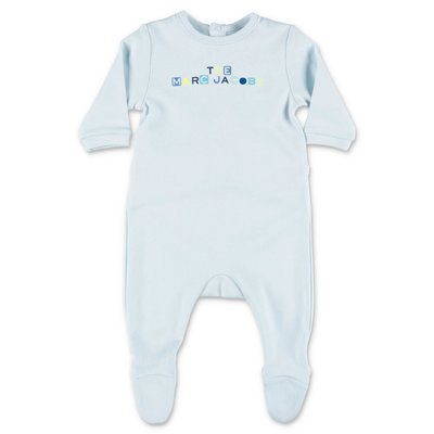 Little Marc Jacobs light blue cotton jersey romper