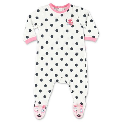 Little Marc Jacobs white polka dots cotton jersey romper