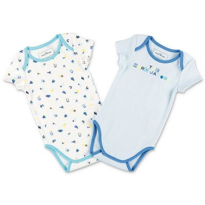 Little Marc Jacobs cotton jersey two bodysuits set