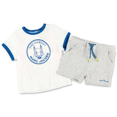 Little Marc Jacobs cotton two-piece jumpsuit with t-shirt & shorts