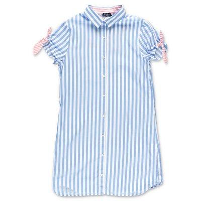 MC2 Saint Barth striped cotton poplin chemisier dress