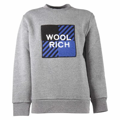 Grey logo detail cotton sweatshirt