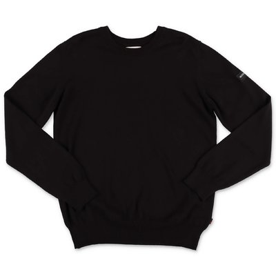 Woolrich black knit cotton & wool jumper