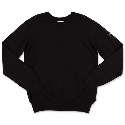 Woolrich pullover nero in maglia di cotone e lana