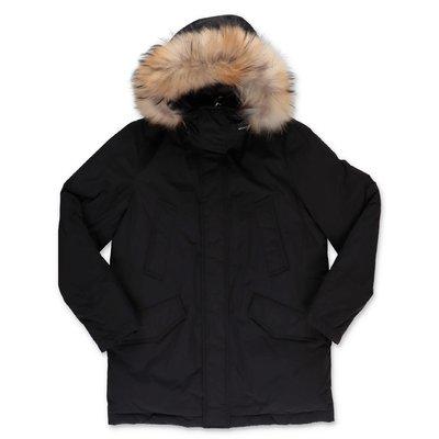 Woolrich giubbino nero in nylon con cappuccio
