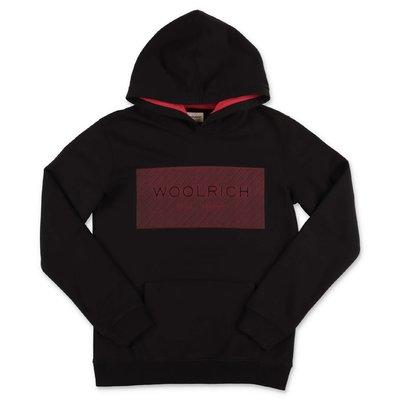 Woolrich black cotton hoodie