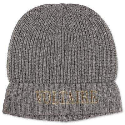 Zadig & Voltaire grey wool & cashmere cap