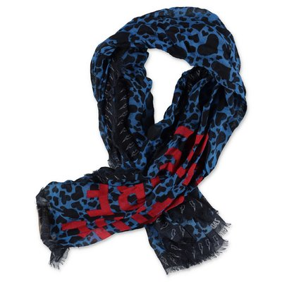 Zadig & Voltaire blue & black modal scarf