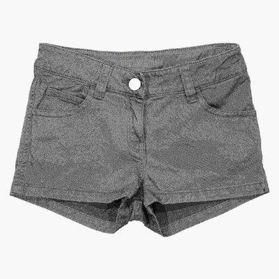 Military green cotton gabardine shorts