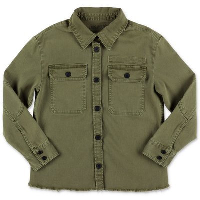 Zadig & Voltaire military green cotton gabardine shirt