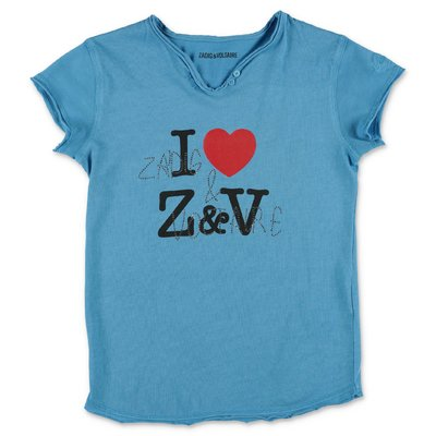 Zadig & Voltaire light blue cotton jersey t-shirt