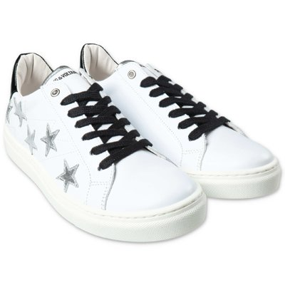 Zadig & Voltaire white leather sneakers with laces