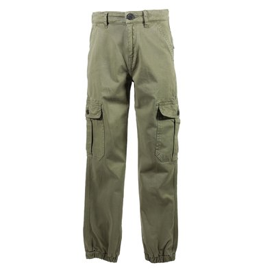 Army green cotton gabardine pants