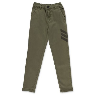 Zadig & Voltaire military green cotton gabardine pants