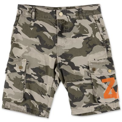 Zadig & Voltaire shorts camouflage in denim di cotone stretch
