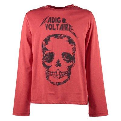 T-shirt rossa in jersey di cotone