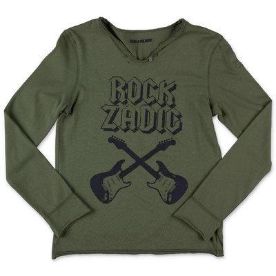 Zadig & Voltaire military green cotton jersey t-shirt