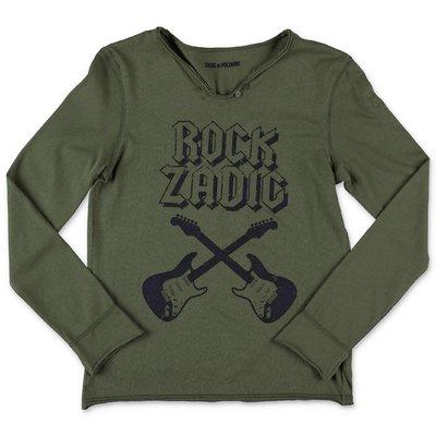 Zadig & Voltaire t-shirt verde militare in jersey di cotone