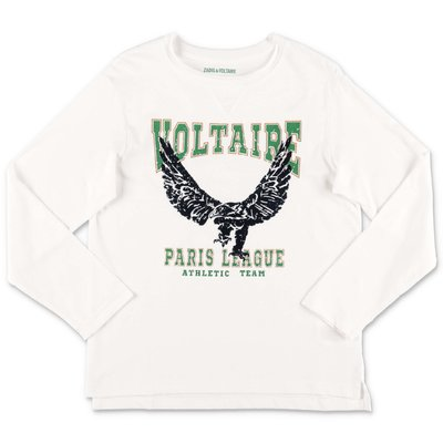 Zadig & Voltaire white logo detail cotton jersey t-shirt