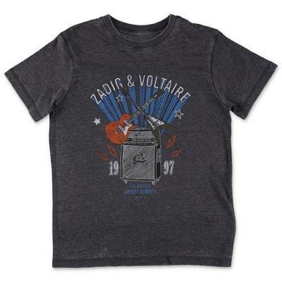 Zadig & Voltaire t-shirt grigia in jersey di cotone