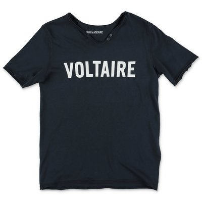 Zadig & Voltaire t-shirt blu navy in jersey di cotone