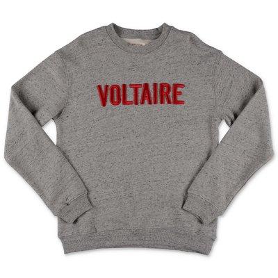 Zadig & Voltaire felpa grigio melange in cotone