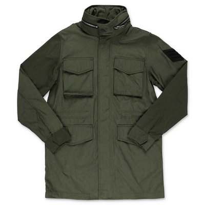 Zadig & Voltaire green nylon waterproof parka jacket