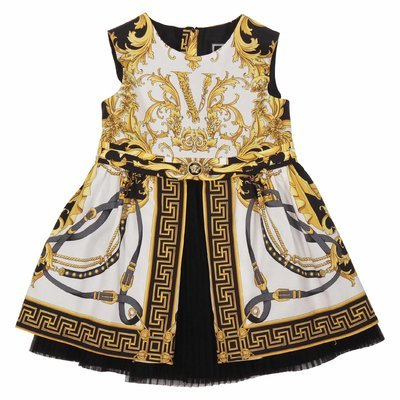 Baroque print cotton dress